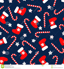 Christmas Pattern Custom Seamless Christmas Pattern With Xmas Socks Stars And Candy Canes