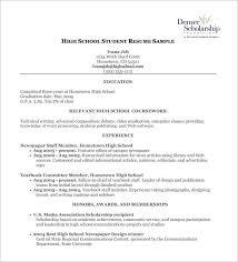 Resume High School Musiccityspiritsandcocktail Com