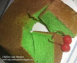 Just My Ordinary Kitchen Chiffon Cake Pandan