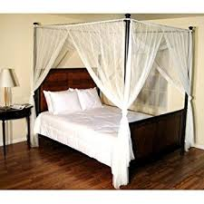 Epoch Hometex Palace Four-Poster Bed Canopy White