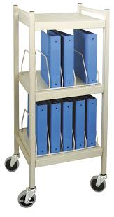 Medical Chart Carts With Vertical Racks Mini