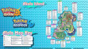 Pokemon Sun and Moon Maps (Pokemon and Zygarde Locations) 1080p and 8k UHD:  pokemon