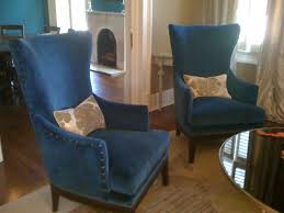 magnificent ideas tall accent chairs double navy blue chairs with tall back and arms also shabby