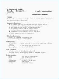 Automation Testing Resume For 5 Years Experience From Beautiful