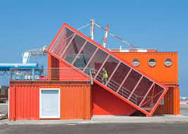 Container Office Design Interesting Angled Shipping Container Houses Stairs For Office By Potash