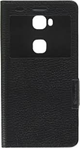 make mate flip phone case for huawei honor 5x genuine leather flip cover case with window