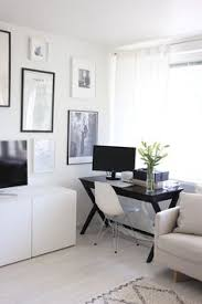 office space in living room. Homevialaura | Living Room Home Office Work Space Gallery Wall In O