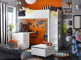 loft room furniture. A Black, Grey, Orange And White Bedroom For Child In Their Pre- Loft Room Furniture