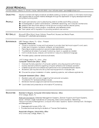 Computer Technician Resume Example Sample Resume Of Computer Technician Ninjaturtletechrepairsco 4