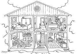 Kleurplaat Huis Binnenkant Thema Wonen Malvorlagen Haus