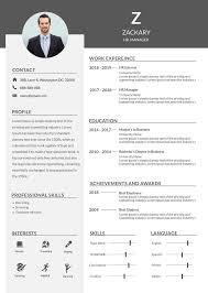 Microsoft Resume Template Word Free Hr Manager Resume Cv Template In Photoshop Psd