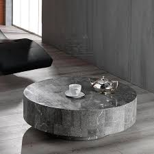 pretty rondo round wooden simple stone coffee table wall decoration and