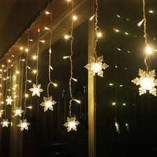 Christmas Decorations 3.8M LED Curtain Snowflake String Lights Led Fairy 8 modes Wedding Party is Colorful-NewChic