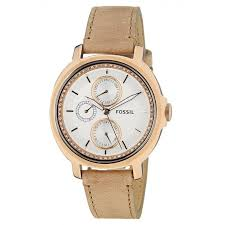 fossil women s es3358 chelsey multifunction leather watch sand styleguynyc