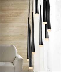 long drop 8 shade light black white or chrome long light fixture i59