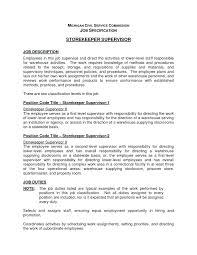 Resume Job Description Examples 10 Job Description And Job Specification Proposal Sample