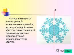 Презентация на тему Осевая симметрия Геометрия Содержание  5 Фигура называется симметричной
