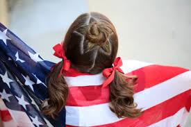 Fourth Of July Hairstyles The Star Bun Combo 4th Of July Hairstyles Cute Girls Hairstyles