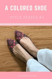 Style Staples: #3 Colored Shoes - Closet Play Image | Colorful shoes,  Style, Perfect white shirt
