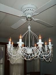 attractive awesome white chandelier ceiling fan light kit decorative love design and brown ceiling color