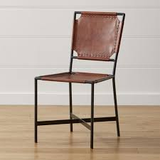 black wood dining chair. Laredo Brown Leather Dining Chair In Chairs + Reviews | Crate And Barrel Black Wood