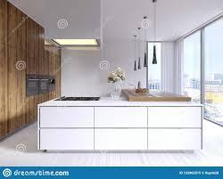 Pendant Lights In White Kitchen Designed Corner White Kitchen In The Scandinavian Style