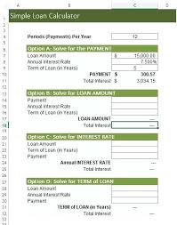 Loan Calculation Template Lease Payment Calculator Excel Loan Schedule Amortization