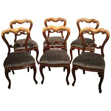 Set of Six Mahogany Victorian Period Antique Dining Chairs For