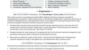 Sample Housekeeping Resume Housekeeping Resume Sample Plush Design ...