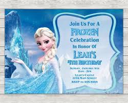 Elsa Birthday Invitation Frozen Party Digital File In