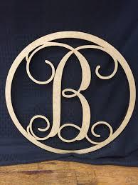 First Class Monogram Door Hanger Circle Monogram Door Hanger ...