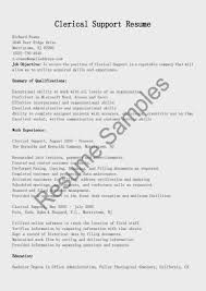 Resume Examples For Clerical Positions Best of Gallery Of Resume Samples Clerical Support Resume Sample Clerical