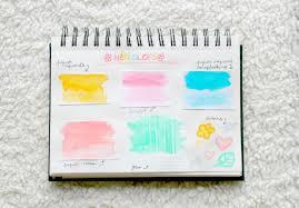 L A Paeonia Gelatos Neocolors Crayons Aquarelle