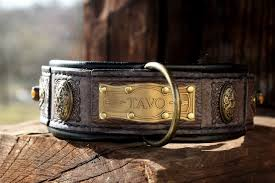 rustic leather dog collar designed by work sauri