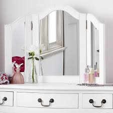 Shabby Chic White Bedroom Furniture Shabby Chic White Dressing Table Mirror Bedroom Furniture Direct