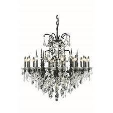 elegant lighting athena 16 light dark bronze chandelier clear elegant cut crystal 9716d35db ec