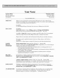 13 Unique Sample Resume Format For Teaching Profession Resume