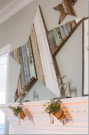 this statement mantlepiece is so perfect for the season this diy wood star mantlepiece
