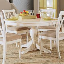 white dining table set. Dining Room, Round White Room Table For 4 Pillow In Chair Set T