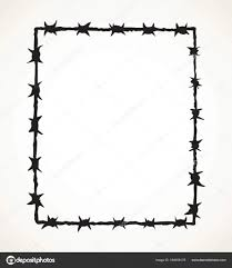 barbed wire fence drawing. Barbed Wire. Vector Drawing \u2014 Stock Wire Fence