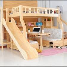 bunk bed with slide and desk. Interesting Bed Bunk Bed With Desk And Slide For I