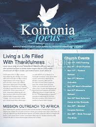 Fall Winter Religious Newsletter Template Newsletter Templates