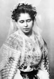 Queen Marie of Romania in a beautiful Romanian peasant blouse