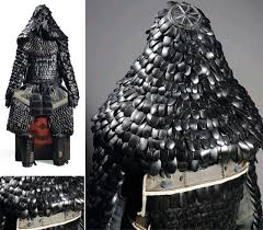 japanese lacquered leather scale armour