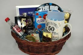 10 nice mens 50th birthday gift ideas 50th birthday gift basket for men personalised gift basket