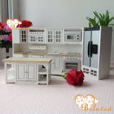 miniature dollhouse furniture. 112 dollhouse miniature diy furniture wood oak kitchen set fridge microwave oven baking price15000 u