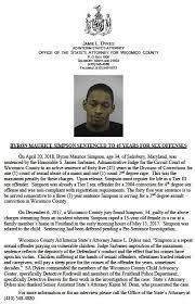Salisbury News: Sentencing of Byron Simpson