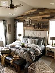 diy stained shiplap mater bedroom