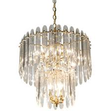 image of chandelier with crystals by sciolari for at 1stdibs