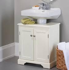 bathroom pedestal sink storage. Wonderful Bathroom Grey Wall Color With White Pedestal Sink Storage Cabinet For Amazing  Bathroom Decor Corner Wicker Basket To I